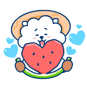 UNIVERSTAR BT21: Summer Time Sticker for LINE & WhatsApp | ZIP: GIF & PNG