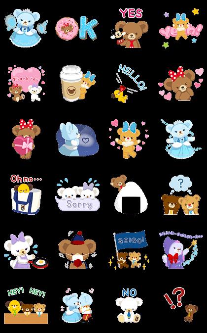 UniBEARsity: Polite Princess Line Sticker GIF & PNG Pack: Animated & Transparent No Background   WhatsApp Sticker