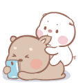 mompig & dadbear Animated Sticker for LINE & WhatsApp | ZIP: GIF & PNG