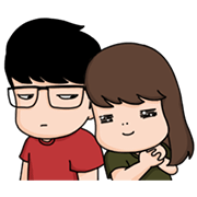 Aida & KiKi―Like a Cat Sticker for LINE & WhatsApp | ZIP: GIF & PNG