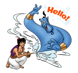 Aladdin Sticker for LINE & WhatsApp | ZIP: GIF & PNG