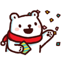 Bac Bac's Diary: It's Winter! Sticker for LINE & WhatsApp | ZIP: GIF & PNG