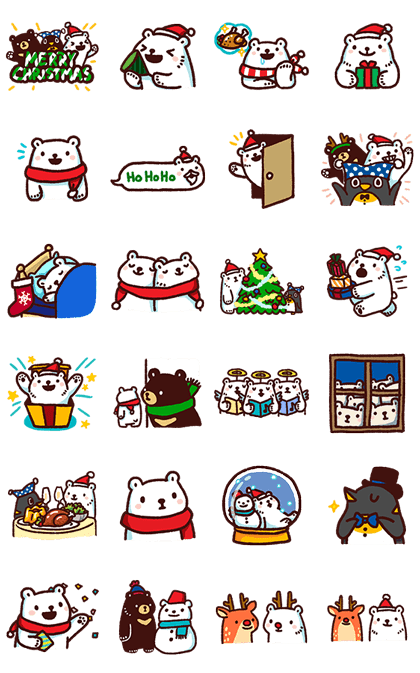 Bac Bac's Diary: It's Winter! Line Sticker GIF & PNG Pack: Animated & Transparent No Background | WhatsApp Sticker