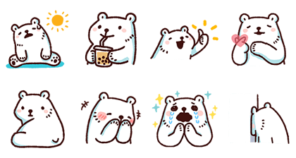 Bac Bac's Moving Diary Line Sticker GIF & PNG Pack: Animated & Transparent No Background | WhatsApp Sticker