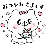 Bear Companion × Mediplus Sticker for LINE & WhatsApp | ZIP: GIF & PNG