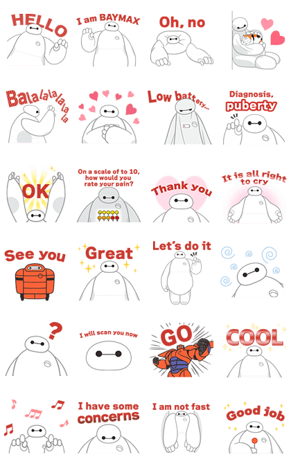 Big Hero 6: Animated Stickers 2 Line Sticker GIF & PNG Pack: Animated & Transparent No Background | WhatsApp Sticker