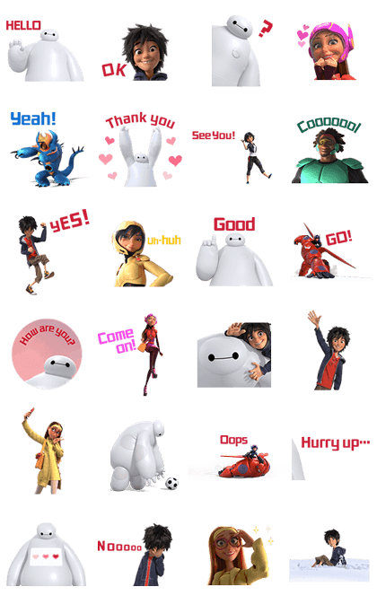 Big Hero 6: Animated Stickers Line Sticker GIF & PNG Pack: Animated & Transparent No Background | WhatsApp Sticker