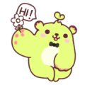 Dooro Bear Is Happy to Meet You Sticker for LINE & WhatsApp | ZIP: GIF & PNG