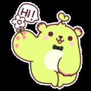 Dooro Bear Is Happy to Meet You Sticker for LINE & WhatsApp | ZIP: GIF & PNG