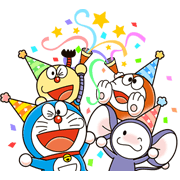 Doraemon & Friends (Fujiko F. Fujio) Sticker for LINE & WhatsApp | ZIP: GIF & PNG