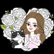 J'Beaut & Jodd: I Heart You, Mom Sticker for LINE & WhatsApp | ZIP: GIF & PNG