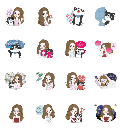 J'Beaut & Jodd: I Heart You, Mom Line Sticker GIF & PNG Pack: Animated & Transparent No Background | WhatsApp Sticker