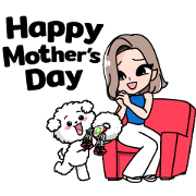 Jibjib and Bravo: Mother's Day Sticker for LINE & WhatsApp | ZIP: GIF & PNG