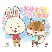 KAMI USAGI ROPÉ Cute & Fluffy Stickers Sticker for LINE & WhatsApp | ZIP: GIF & PNG