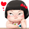 Khing Khing hot girl (AIS) Sticker for LINE & WhatsApp | ZIP: GIF & PNG