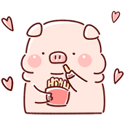 Lazynfatty: Foodie Little Piggy Sticker for LINE & WhatsApp | ZIP: GIF & PNG