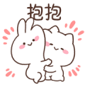 MIMI and Neko: Happy Together Sticker for LINE & WhatsApp | ZIP: GIF & PNG