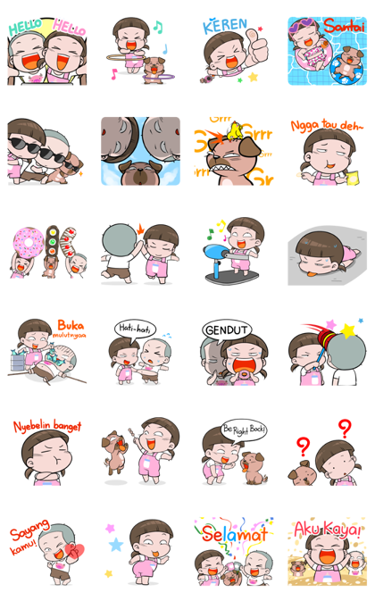 NomYen & HuaKrien Pop-Up 2 Line Sticker GIF & PNG Pack: Animated & Transparent No Background | WhatsApp Sticker