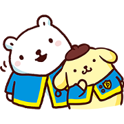 Pompompurin × Bac Bac's Diary: Cheer Up! Sticker for LINE & WhatsApp | ZIP: GIF & PNG