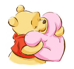 Pooh & Friends (Sunny days) Sticker for LINE & WhatsApp | ZIP: GIF & PNG
