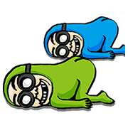 Swing with BG MEN Sticker for LINE & WhatsApp | ZIP: GIF & PNG