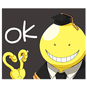 Talking Pop-Up Assassination Classroom Sticker for LINE & WhatsApp | ZIP: GIF & PNG