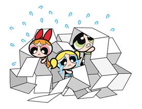 The Powerpuff Girls Sticker for LINE & WhatsApp   ZIP: GIF & PNG