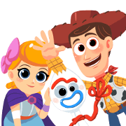 Toy Story 4 : Animated Version Sticker for LINE & WhatsApp | ZIP: GIF & PNG