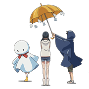 Weathering with You Sticker for LINE & WhatsApp | ZIP: GIF & PNG