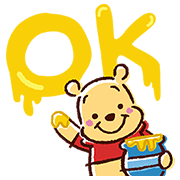 Winnie The Pooh Pop-Up Stickers Sticker for LINE & WhatsApp | ZIP: GIF & PNG