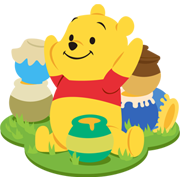 Winnie the Pooh Sticker for LINE & WhatsApp | ZIP: GIF & PNG