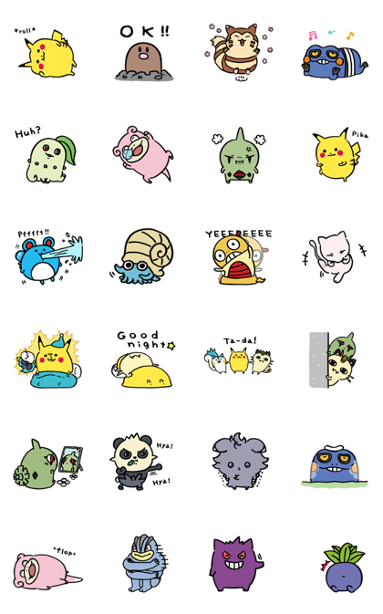 24/7 Pokémon Line Sticker GIF & PNG Pack: Animated & Transparent No Background | WhatsApp Sticker