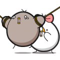 Black and White Chicken: Minds in Sync Sticker for LINE & WhatsApp | ZIP: GIF & PNG