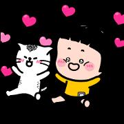 Catch MiM's Heart! Sticker for LINE & WhatsApp | ZIP: GIF & PNG