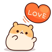 Consideration Hamster Sticker for LINE & WhatsApp | ZIP: GIF & PNG