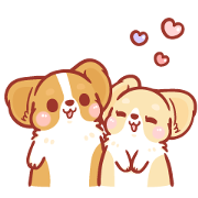 Corgi KaKa: Sweet Couple Daily Life Sticker for LINE & WhatsApp | ZIP: GIF & PNG