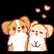 Corgi KaKa: Sweet Couple Daily Life Sticker for LINE & WhatsApp | ZIP: GIF & PNG