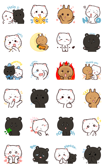 Cymo the Fluff Squad Line Sticker GIF & PNG Pack: Animated & Transparent No Background | WhatsApp Sticker