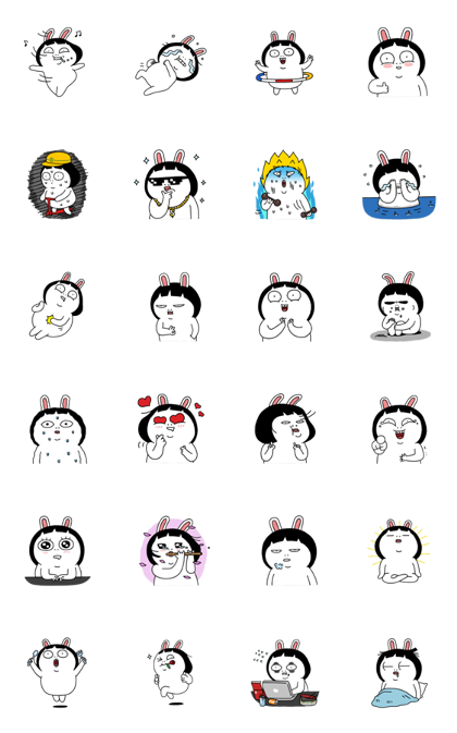 Cynical's Happy Fat Life Chubby Stickers Line Sticker GIF & PNG Pack: Animated & Transparent No Background | WhatsApp Sticker