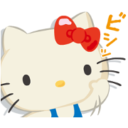 Gundam vs. Hello Kitty: Team Kitty Sticker for LINE & WhatsApp | ZIP: GIF & PNG