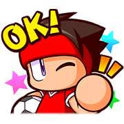 JIKKYOU POWERFUL SOCCER Sticker for LINE & WhatsApp | ZIP: GIF & PNG