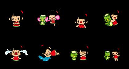 Little Manka Line Sticker GIF & PNG Pack: Animated & Transparent No Background | WhatsApp Sticker