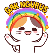 Meong the Meme Cat Sticker for LINE & WhatsApp | ZIP: GIF & PNG
