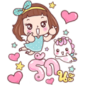 Miedie Big Stickers Sticker for LINE & WhatsApp | ZIP: GIF & PNG