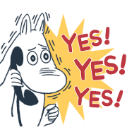 Moomin Intense Stickers Sticker for LINE & WhatsApp | ZIP: GIF & PNG