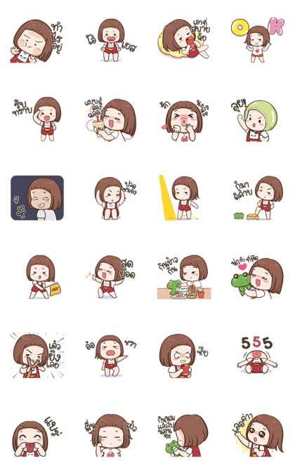 Pompam Animated Line Sticker GIF & PNG Pack: Animated & Transparent No Background | WhatsApp Sticker