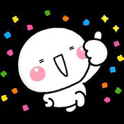 Shiromaru Timeless Pop-Up Stickers Sticker for LINE & WhatsApp   ZIP: GIF & PNG
