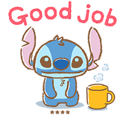 Stitch Custom Stickers Sticker for LINE & WhatsApp | ZIP: GIF & PNG