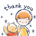 Winnie the Pooh & Christopher Robin Sticker for LINE & WhatsApp | ZIP: GIF & PNG