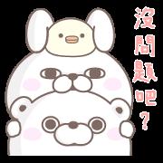 YOSISTAMP: Rabbit & Bear 100% Sticker for LINE & WhatsApp | ZIP: GIF & PNG